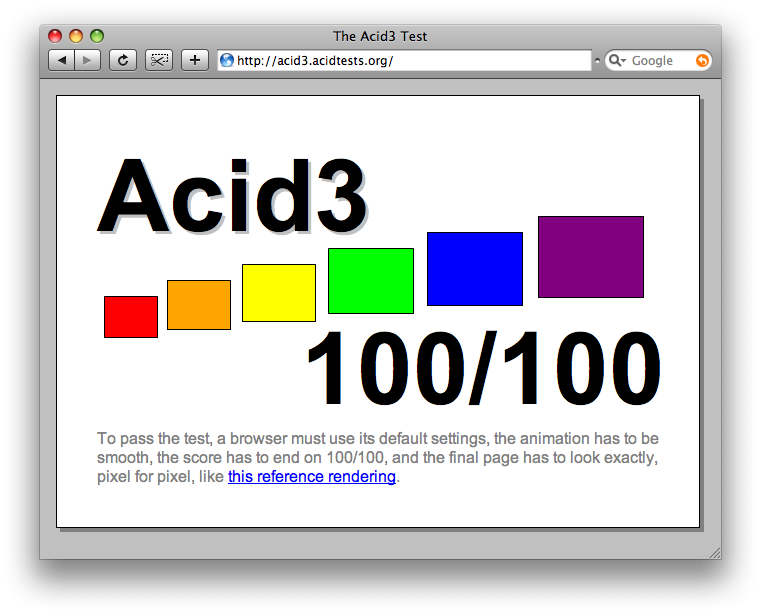 webkit acid3 test screenshot