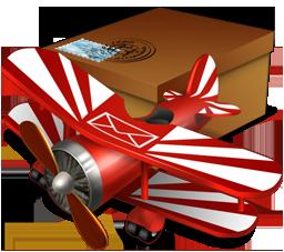 avion y correo