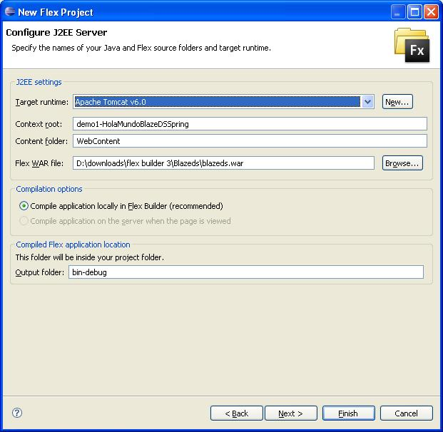 Configuracion Proyecto Flex/Java paso 2.